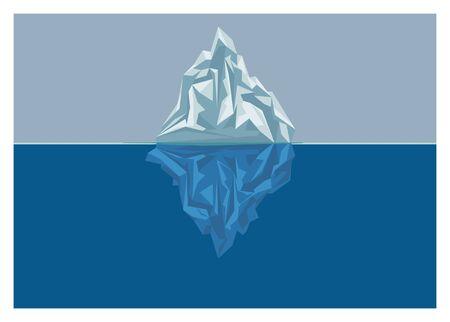 Iceberg phenomenon simple concept  illustration