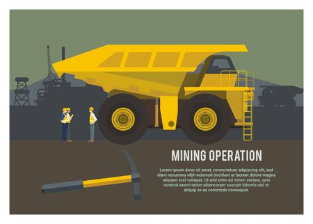 Truck for mining operation