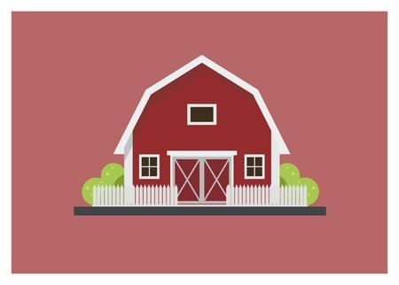 Grange simple illustration isolé Banque d'images - 93196597