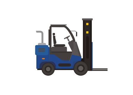 Forklift simple colored illustration
