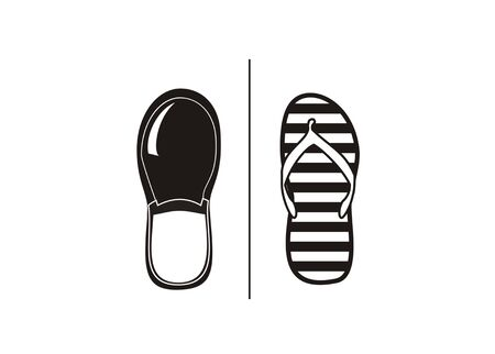Footwear simple icon illustration.