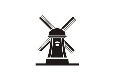 windmill simple icon Illustration
