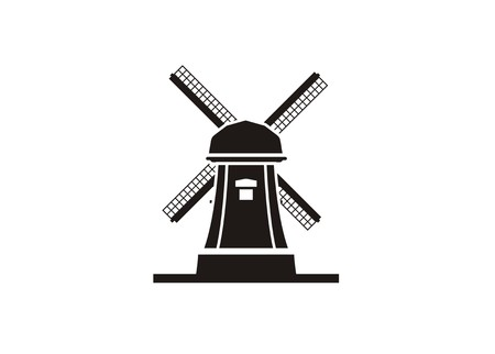 windmill simple icon 向量圖像