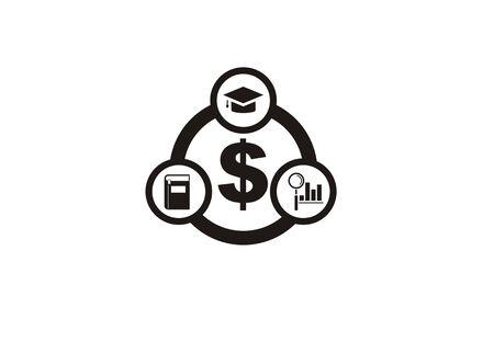 scholarship, education fee simple icon Vector illustration.  イラスト・ベクター素材
