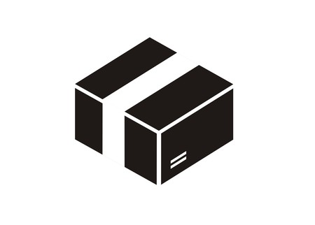 sealed paper box simple icon Vector illustration. Illustration