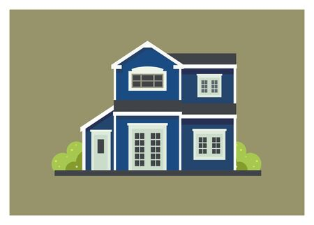 simple home illustration isolated on color background.