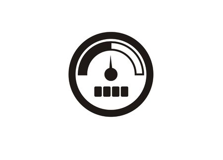 Indicator simple icon isolated vector illustration