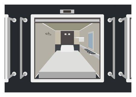 Capsule room simple illustration 向量圖像