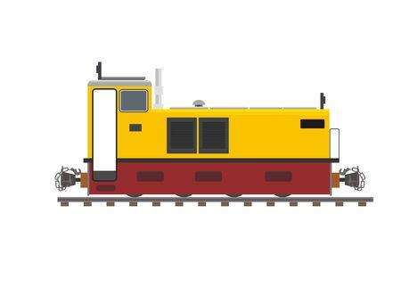 narrow gauge disesel locomotive Ilustrace