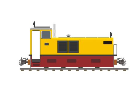 narrow gauge disesel locomotive Illustration