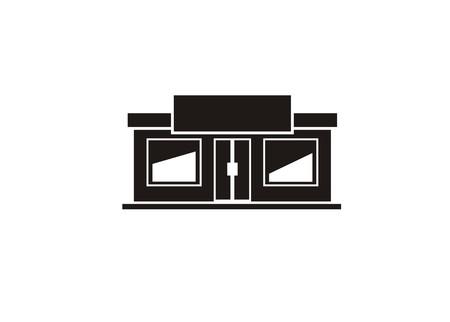shop building simple icon Vector illustration. Vectores
