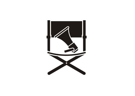 movie director chair simple black icon
