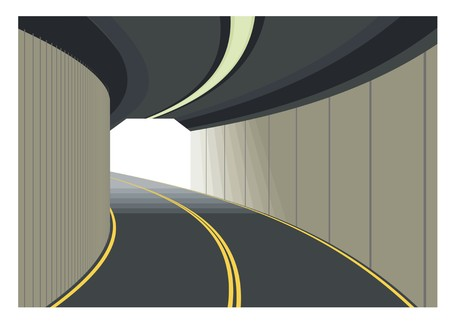 road tunnel exitentrance simple illustration 矢量图像