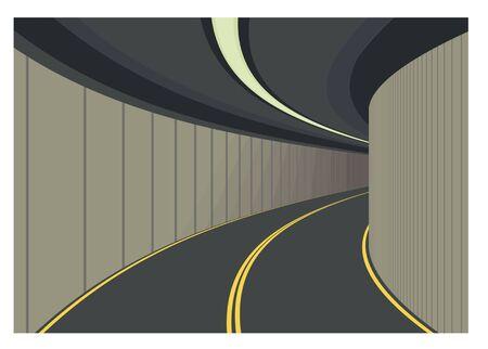 road tunnel simple illustration