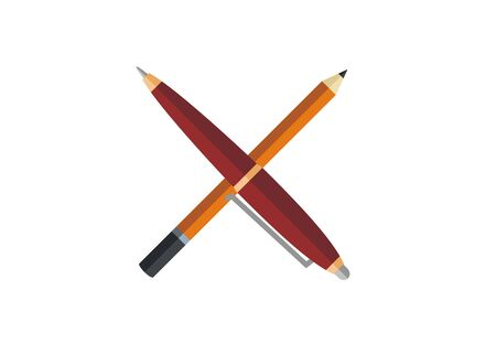 A stationary simple illustration on plain background