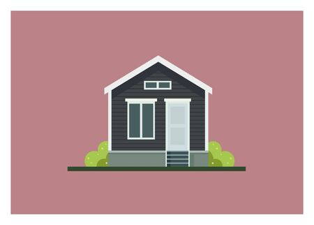small home building simple Vector illustration.