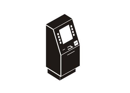 ATM machine simple isometric icon Vector illustration.