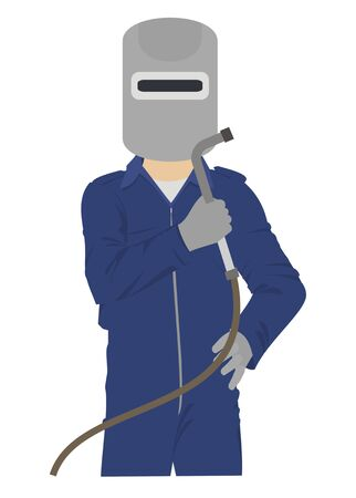 welder man simple illustration