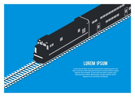 double decker passenger train silhouette