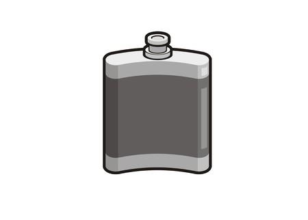 Liquor can simple illustration Illustration