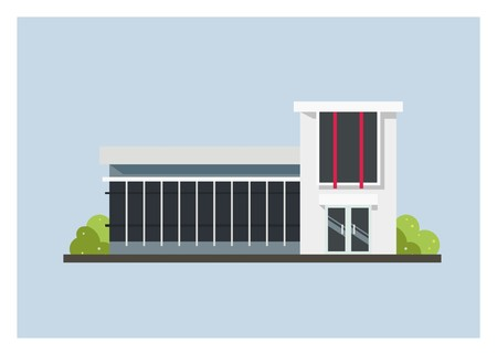 minimalist building simple illustration Ilustrace