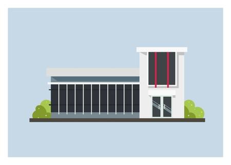 minimalist building simple illustration Standard-Bild - 101821417