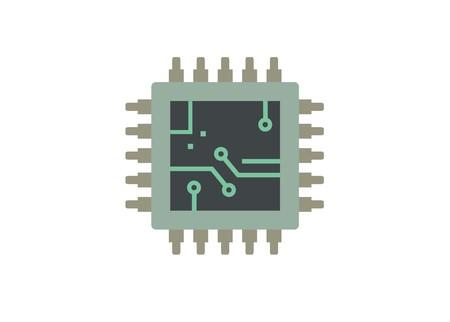 computer processor simple illustration