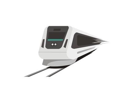 fast train simple illustration