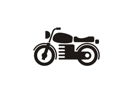 motorcycle simple icon Illustration