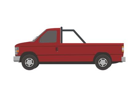 empty pick up car simple illustration