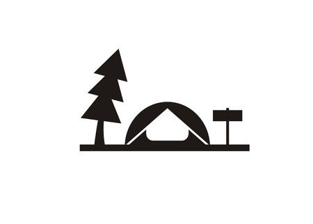 camping site simple icon