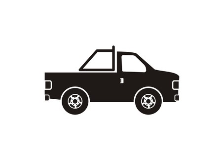 pick up car simple icon