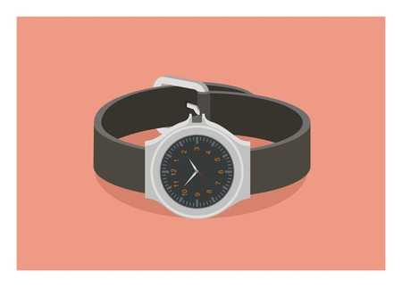 watch simple illustration, with beltbracelet Ilustração