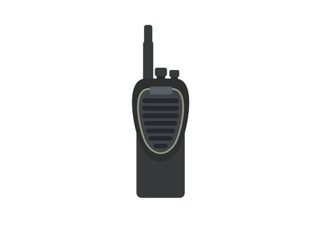 handie talkiewalkie talkie radio simple illustration