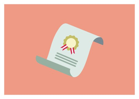 legalcertificate paper simple icon