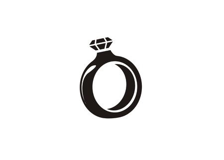 wedding ring/jewelry simple icon