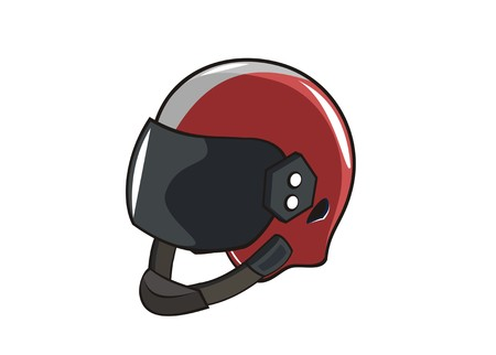 motorcycle helmet simple illustration