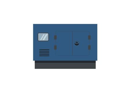 ilustración simple del motor generador