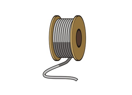 ropewirecable roll simple illustration