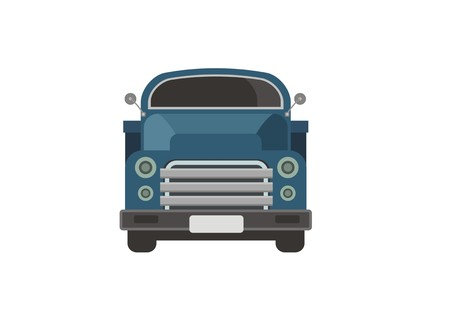 old truck simple illustration Stock Vector - 106834449