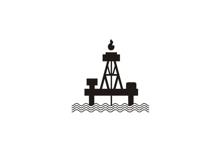 offshore oil rig simple icon