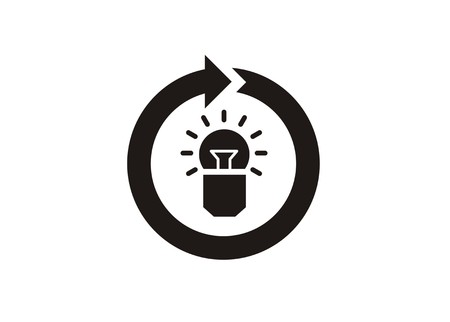 continuous creativity simple icon