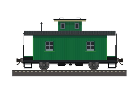 caboose wagon simple illustration