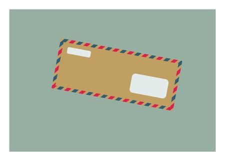 long letter envelope simple illustration