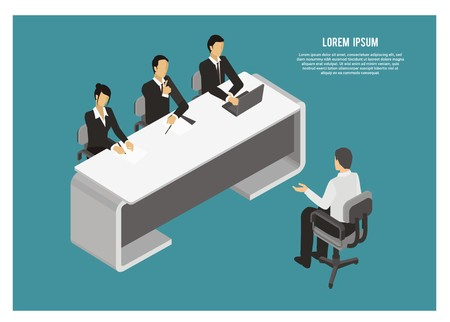 interview session simple illustration Foto de archivo - 109407856