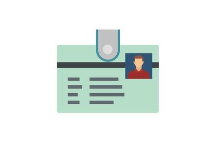 ID card simple illustration