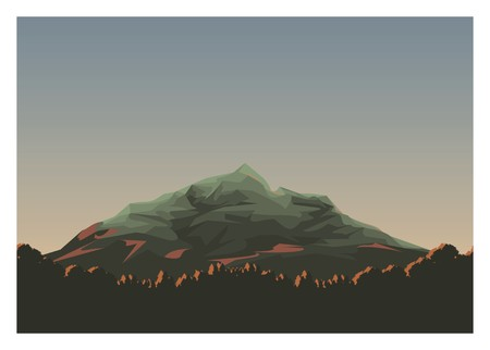 forest silhouette with mountain peak background