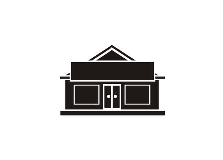 shop houseoffice house building simple icon Ilustrace