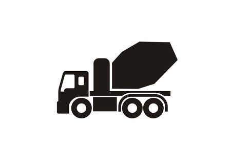 cement truck simple icon