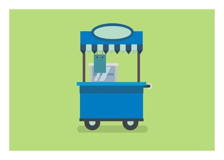 food stall/food booth simple illustration